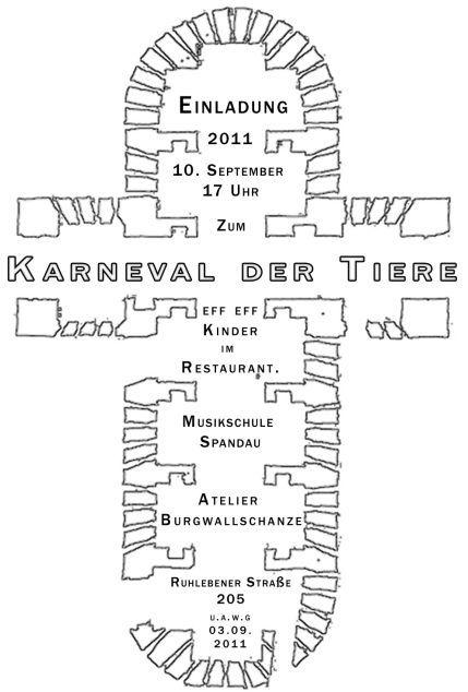 karneval der tiere   atelier-burgwallschanze.de, Einladungen