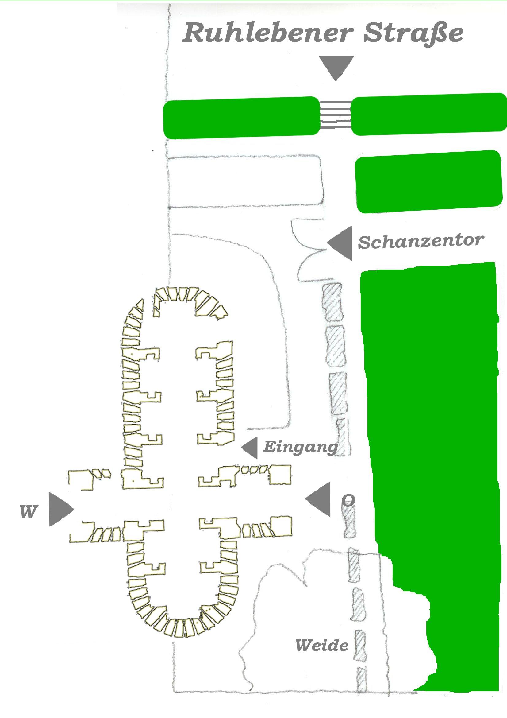 Lageplan Burgwallschanze